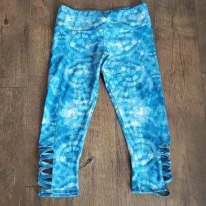 Blue athletic leggings
